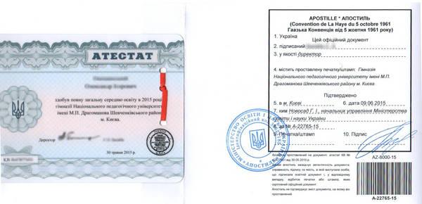 Апостиль документов в Киеве